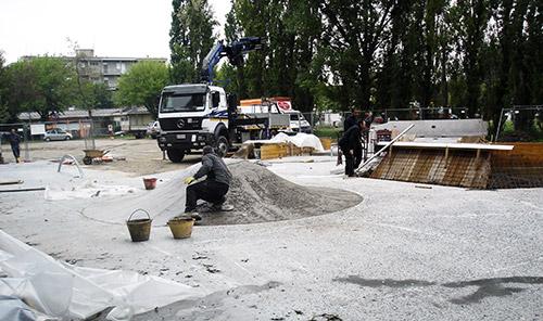 Concrete Skatepark Building - Oami Skateplaza