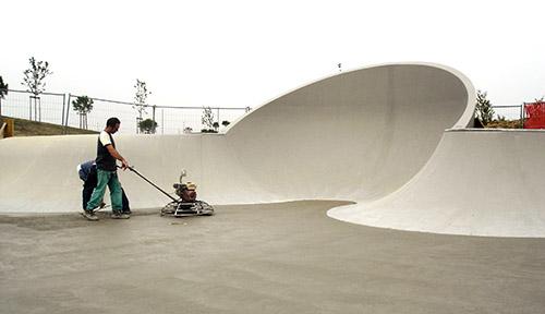 Concrete Skatepark Building - Jurassic Skatepark
