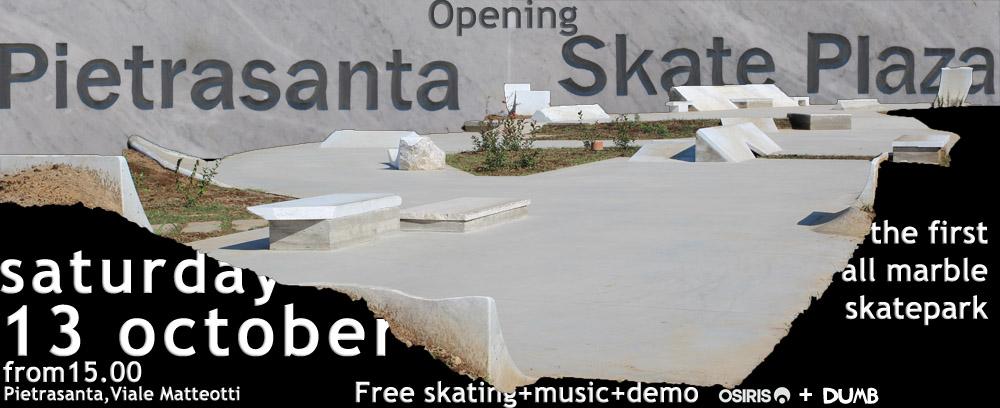 PIetrasanta Marble skate plaza